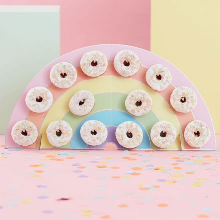 Rainbow Shaped Donut Wall